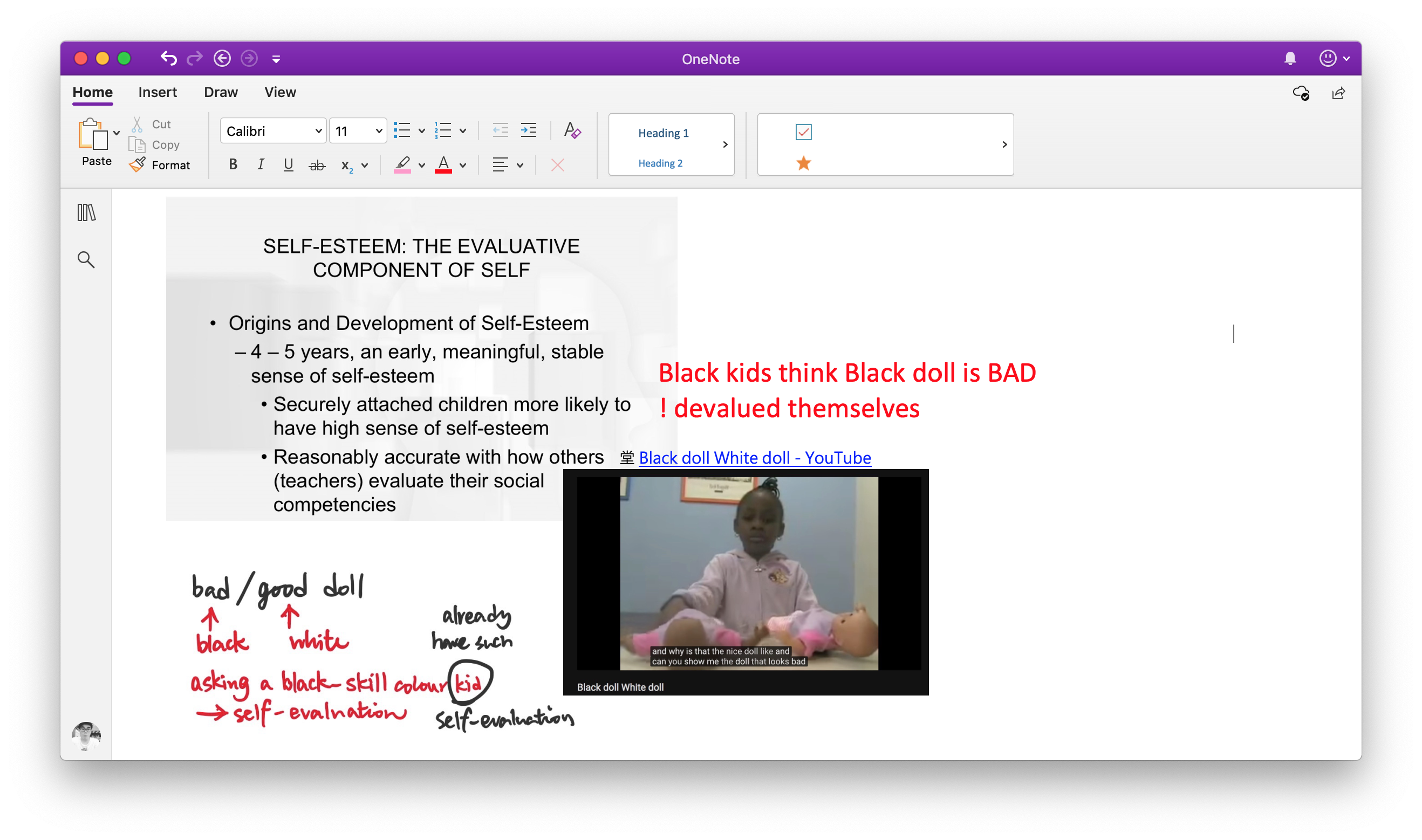Note-taking with OneNote as a Psychology student - Curtis's