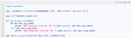 Using Pyshark in Python to create Promiscuous sniffer
