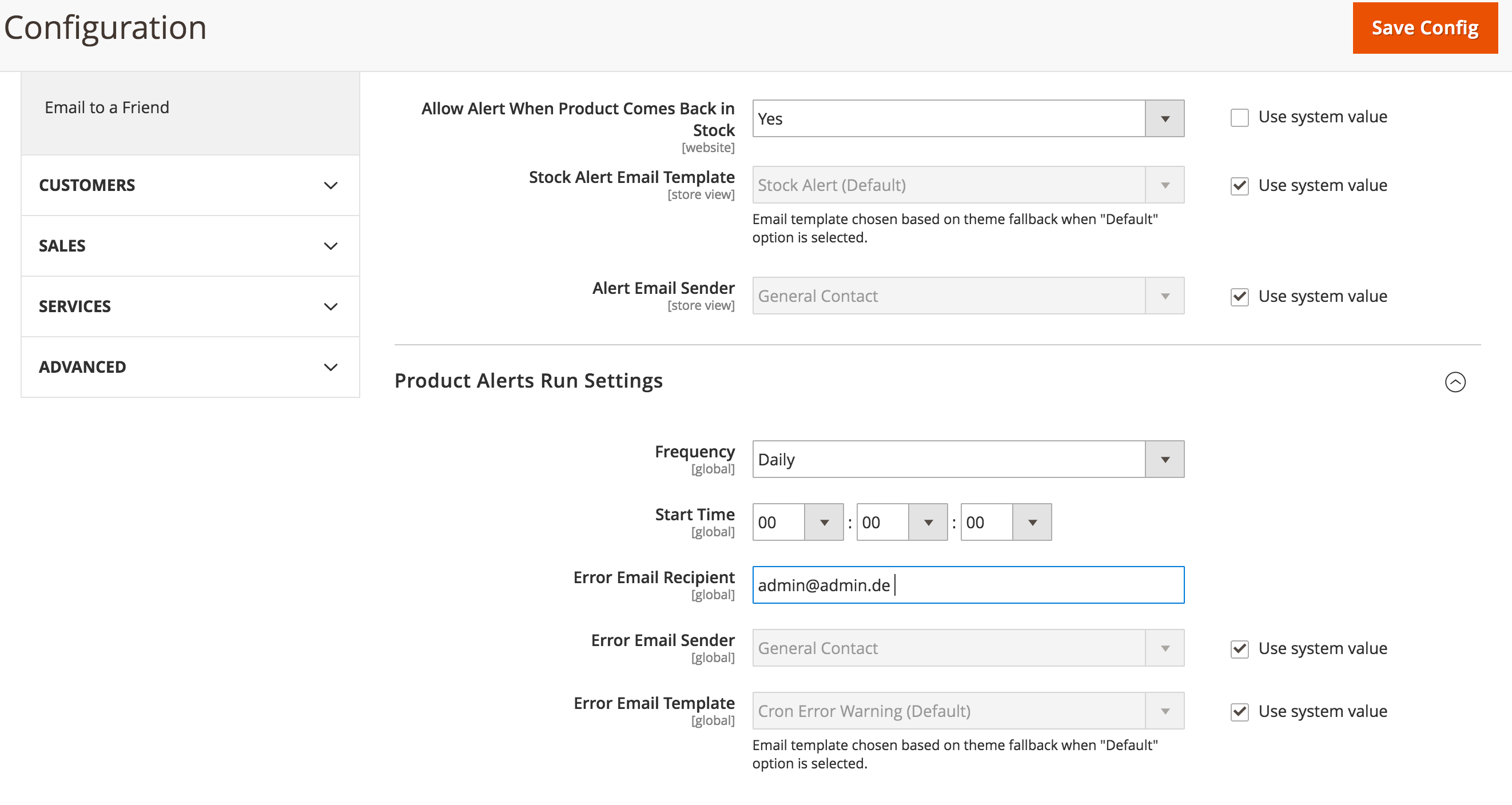 Enable Notify me when this product is in stock in Magento 2