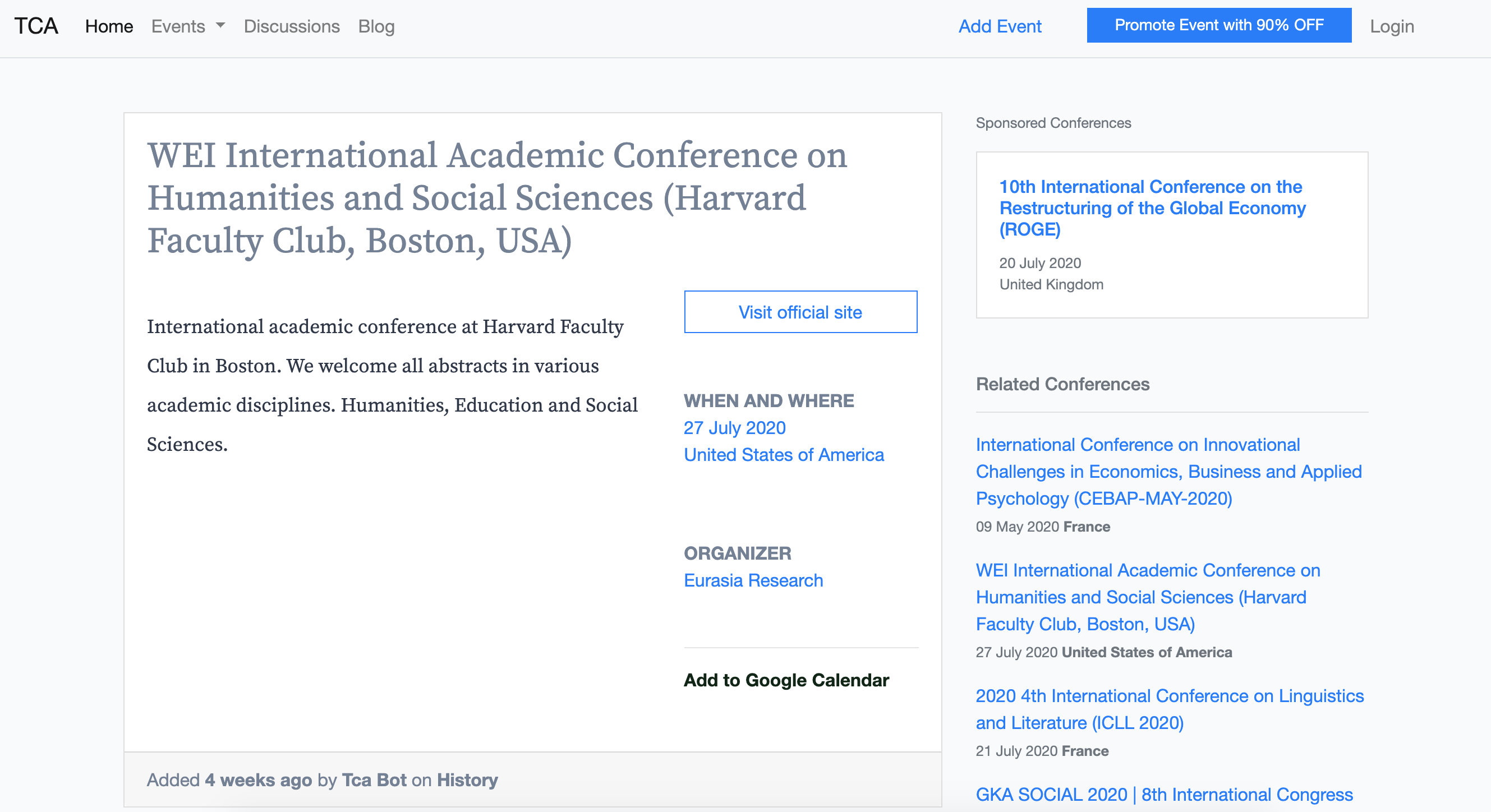 Add To Calendar add events to your google calendar - the conference alerts
