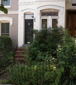 Socialist Bernie Sanders And His Pigsty Dc House By Steve Dibert Medium,House Exterior Paint Colors That Go With Red Brick