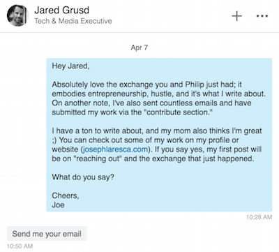 How I Got The CEO of The Huffington Post To Email Me Back