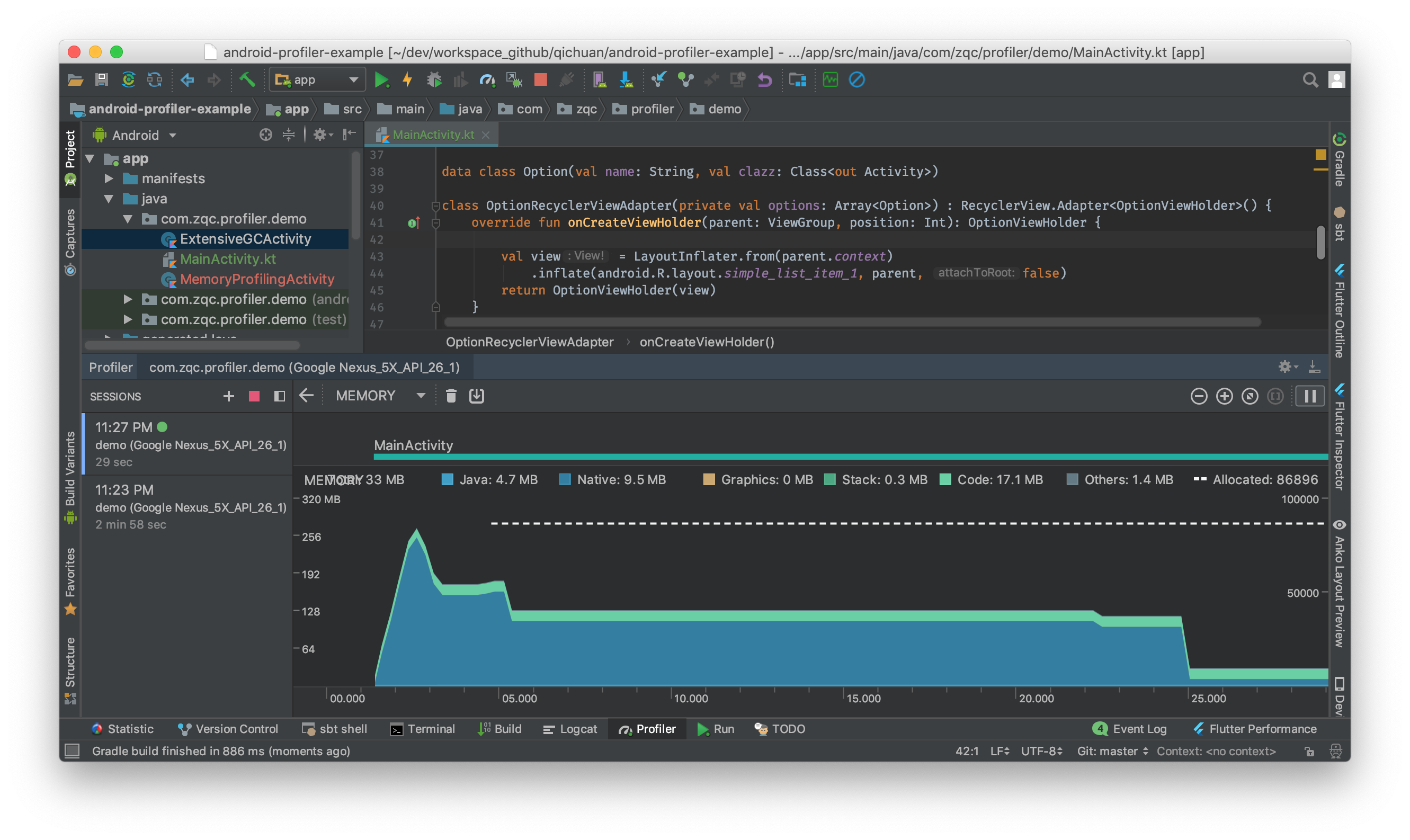 Profiling your app with Android Studio - Heartbeat