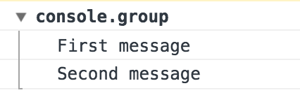 Grouped log messages