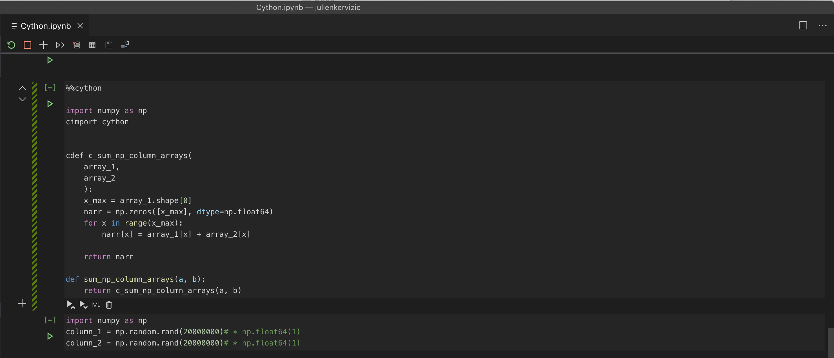 VisualStudio Code, iPython/Jupyter Notebook support