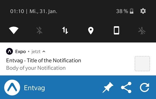 Easily setup push notifications with Expo for React Native apps