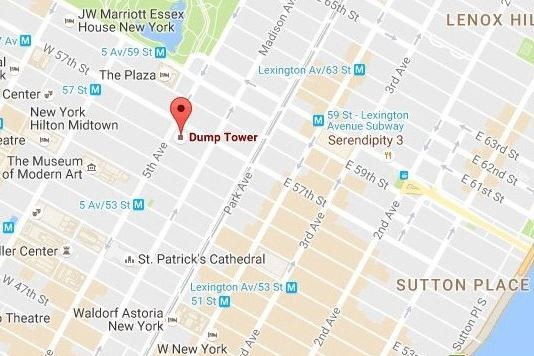 Google Nyc Subway Map.Google Maps Renames Trump Tower In Nyc As Dump Tower