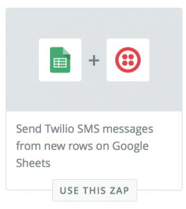 google-to-twilio-zap