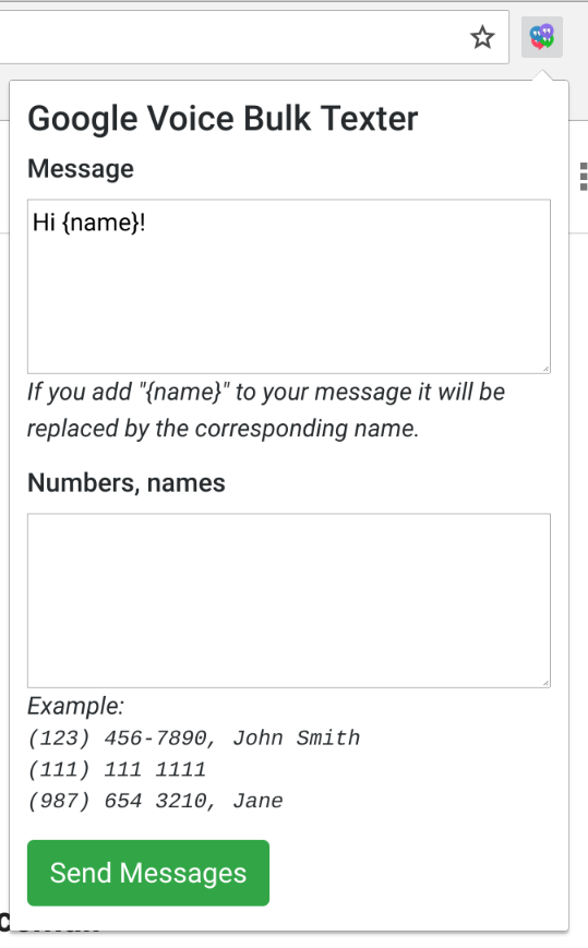 How to send bulk texts with Google voice - brismuth's blog