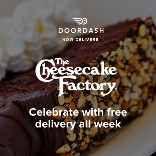 the cheesecake factory doordash