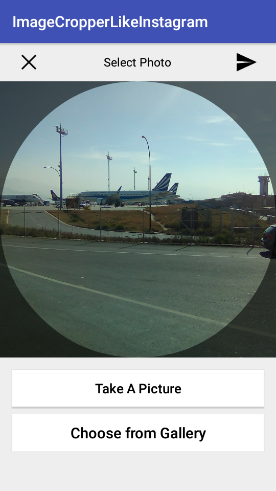 How to make an ImageCropper Like Instagram on Android - Example