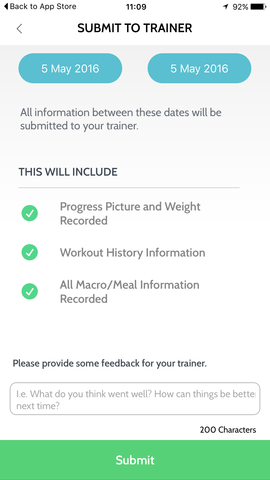 Template client personal trainer information Excel Personal