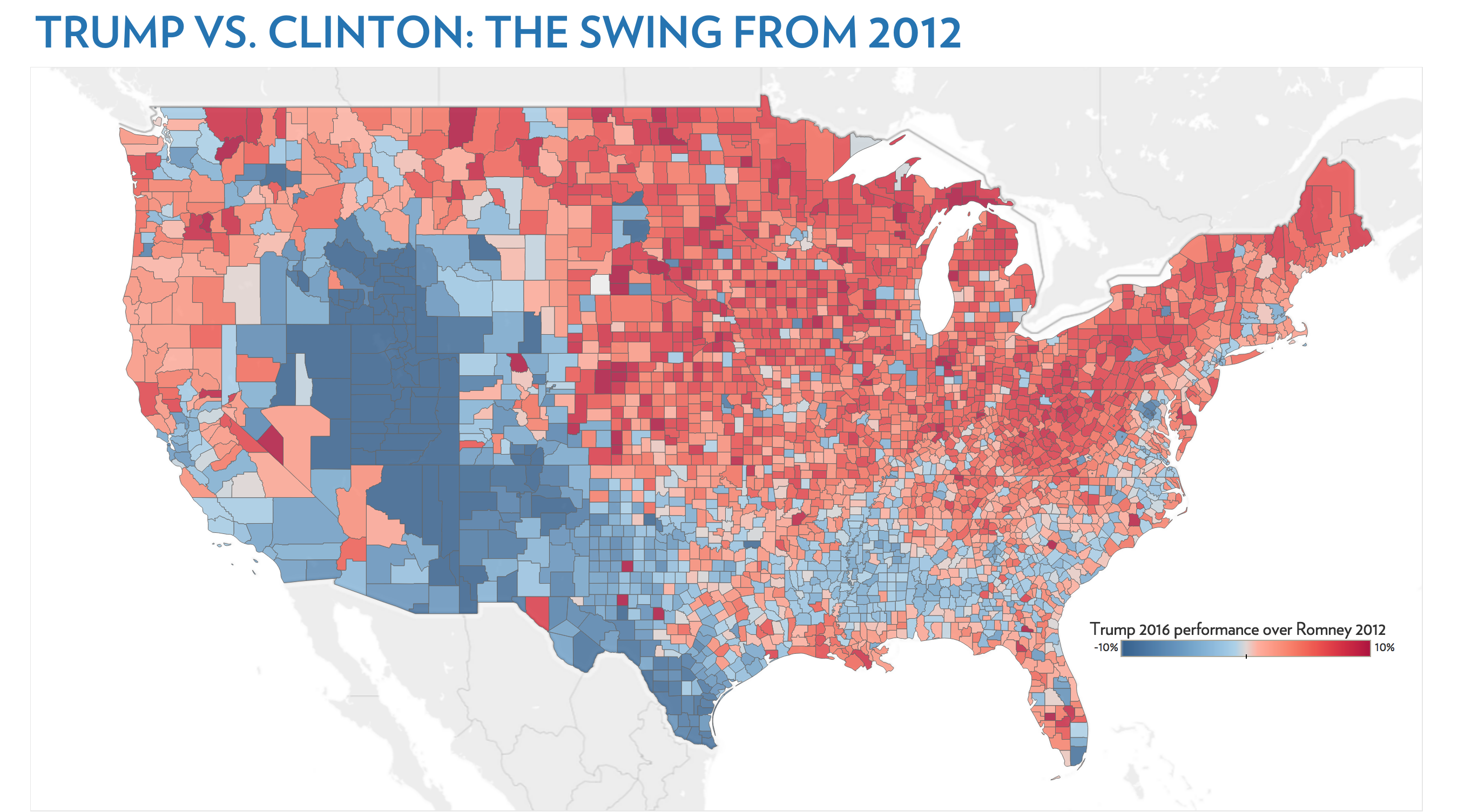 Image of: Mapping The Demography Of The 2016 Election By Patrick Ruffini Echelon Indicators Medium