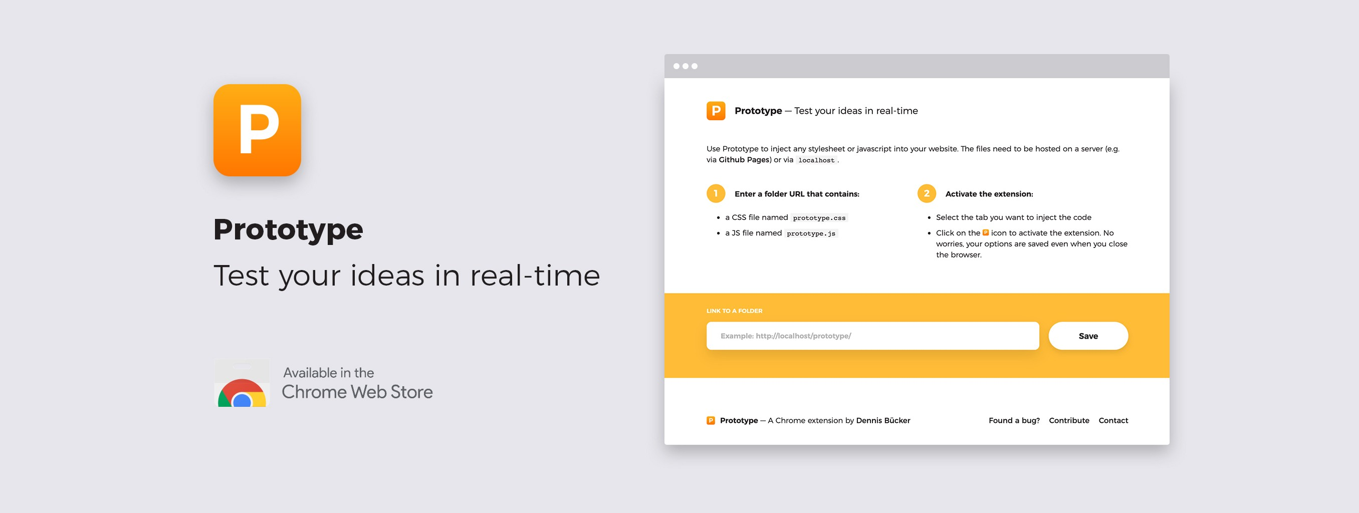 Prototype — A simple & free Chrome extension to test your