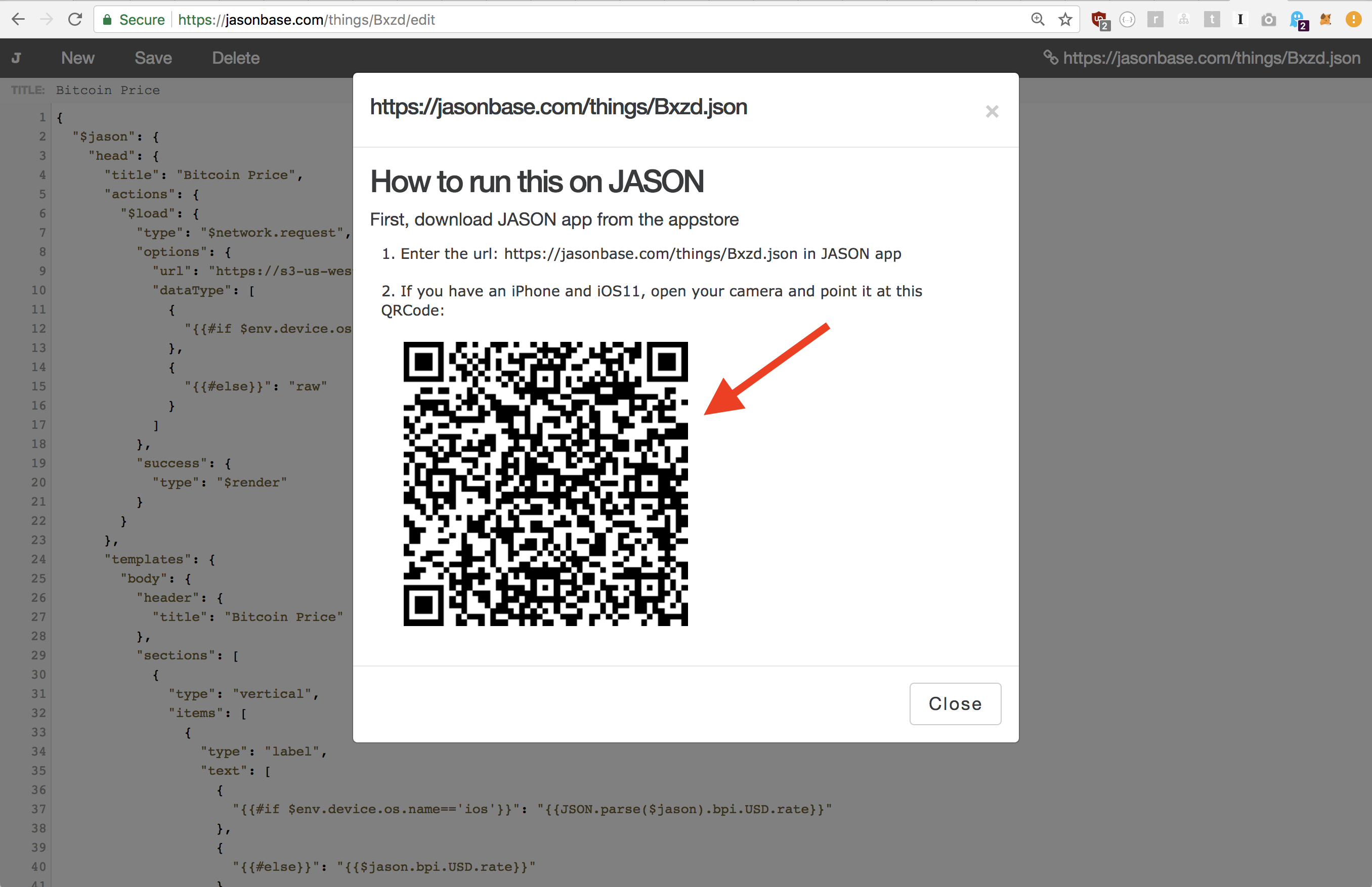 Build a QRCode/Barcode scanning app with 26 lines of JSON