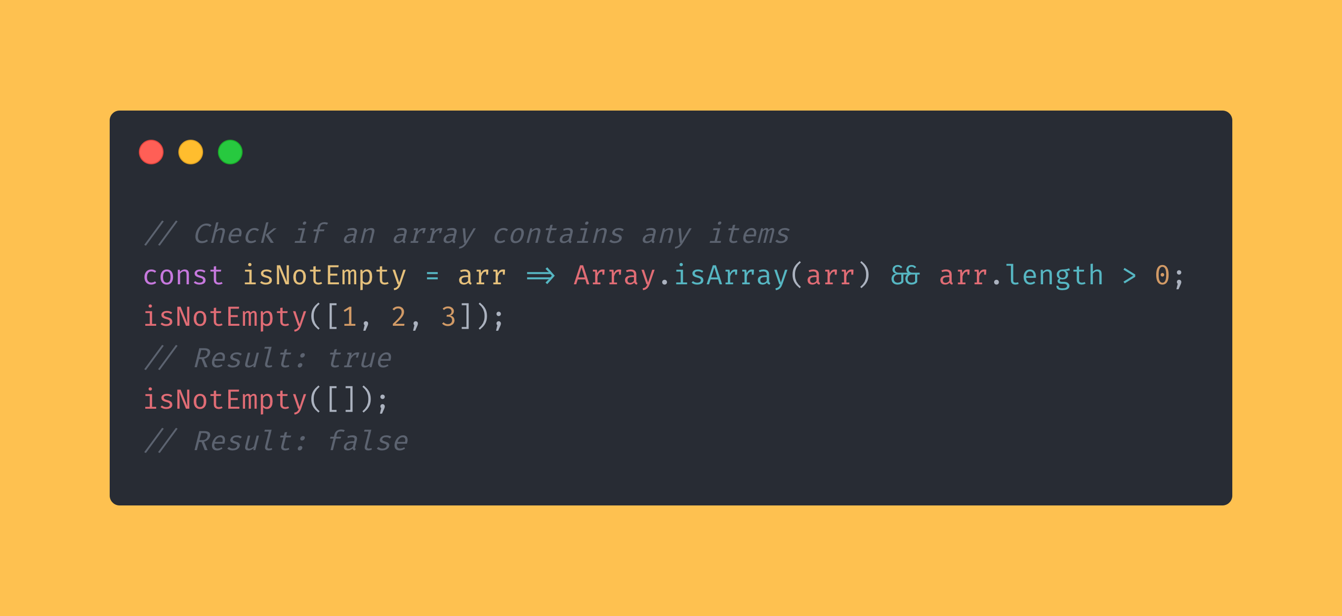 JavaScript function that checks if an array is empty