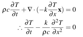 a heat equation with symbols