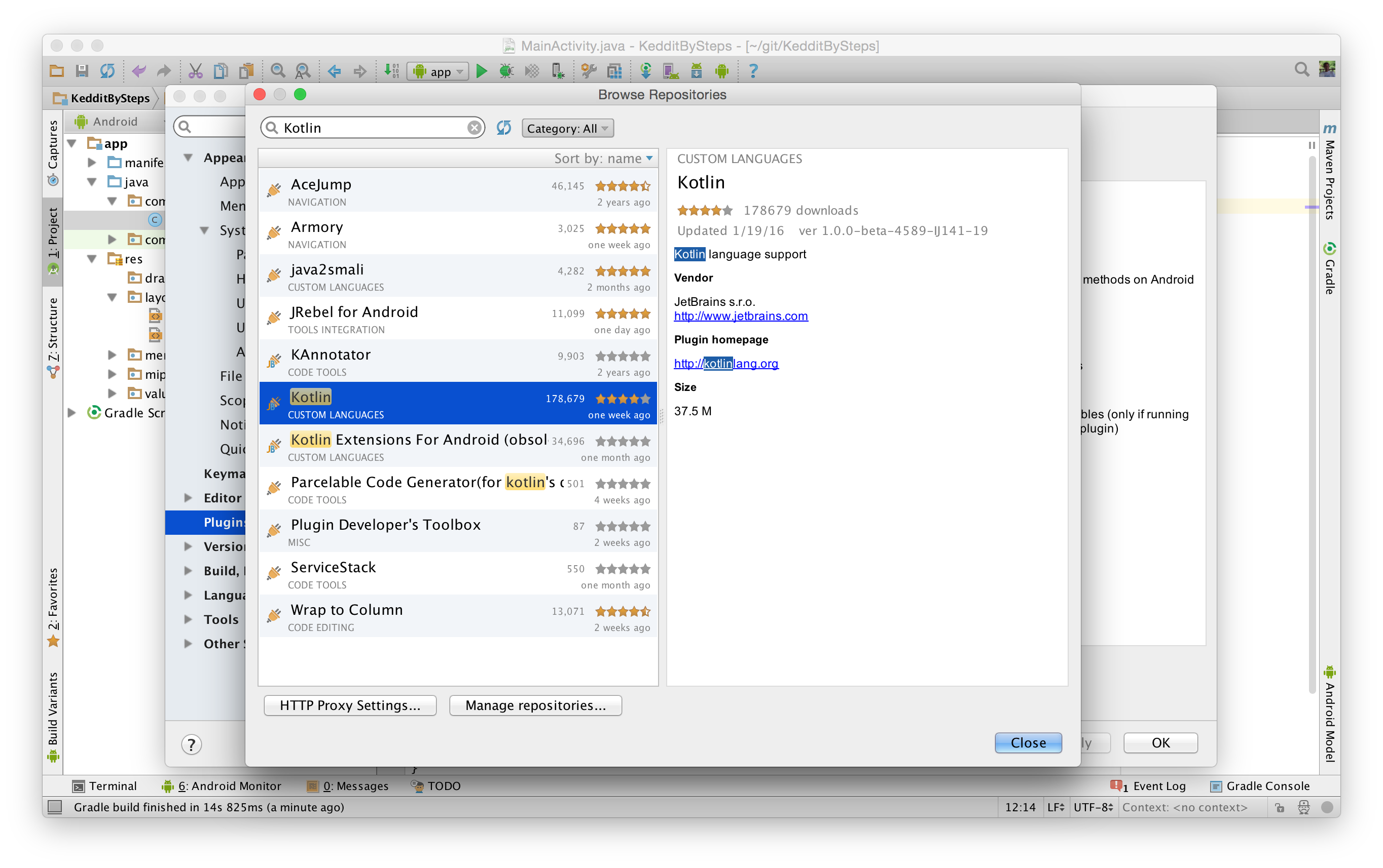Keddit — Part 1: Configuring Android Studio with Kotlin