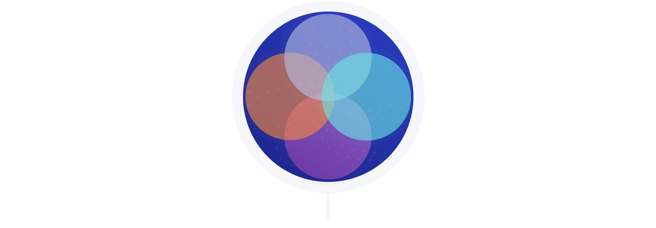 Illustration showing multiple color overlapping circles that symbolizes flexibility.