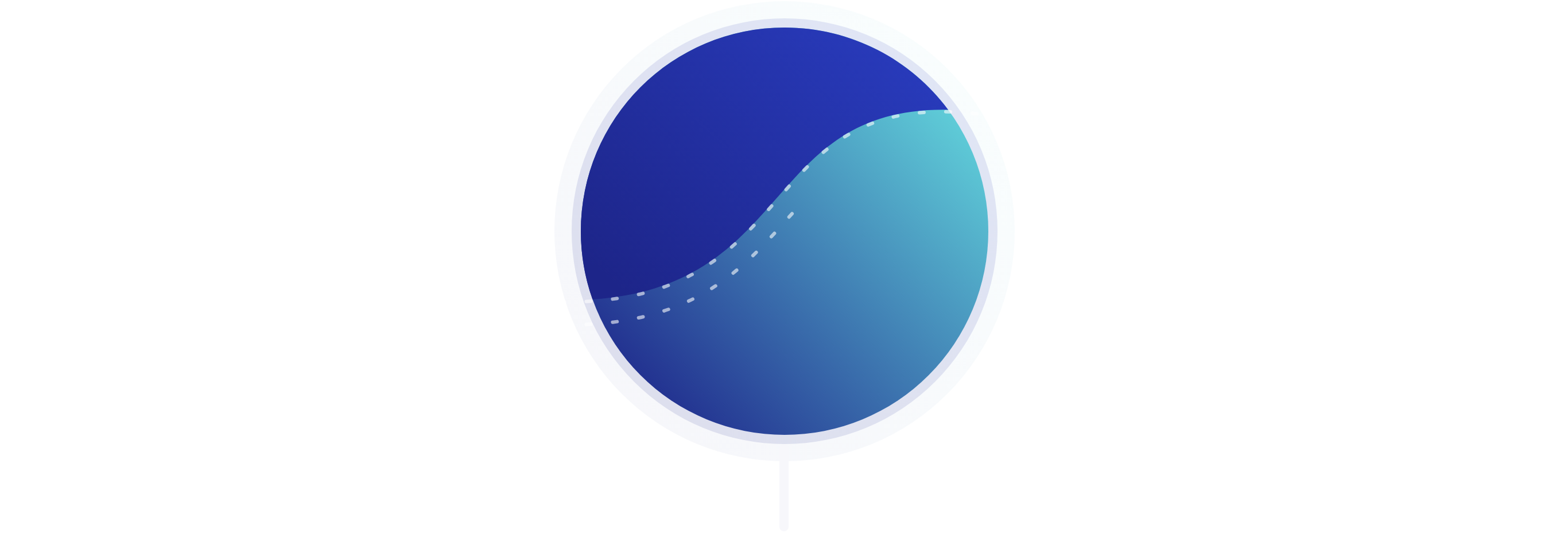 Illustration showing a flowing upwards trend that symbolizes the continual improvement of design systems.