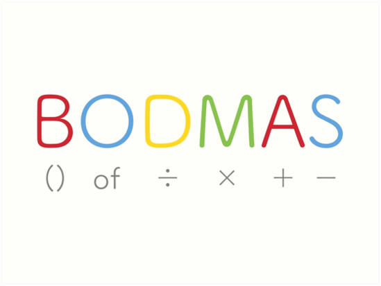 what is full form of BODMAS