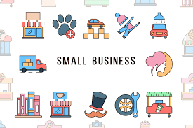 Graphic listing various small businesses.