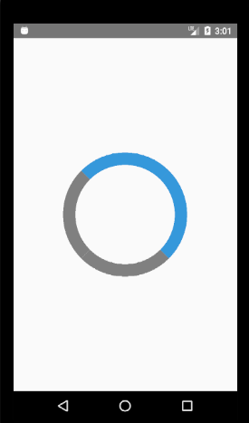 React Native percentage based progress circle ( no external