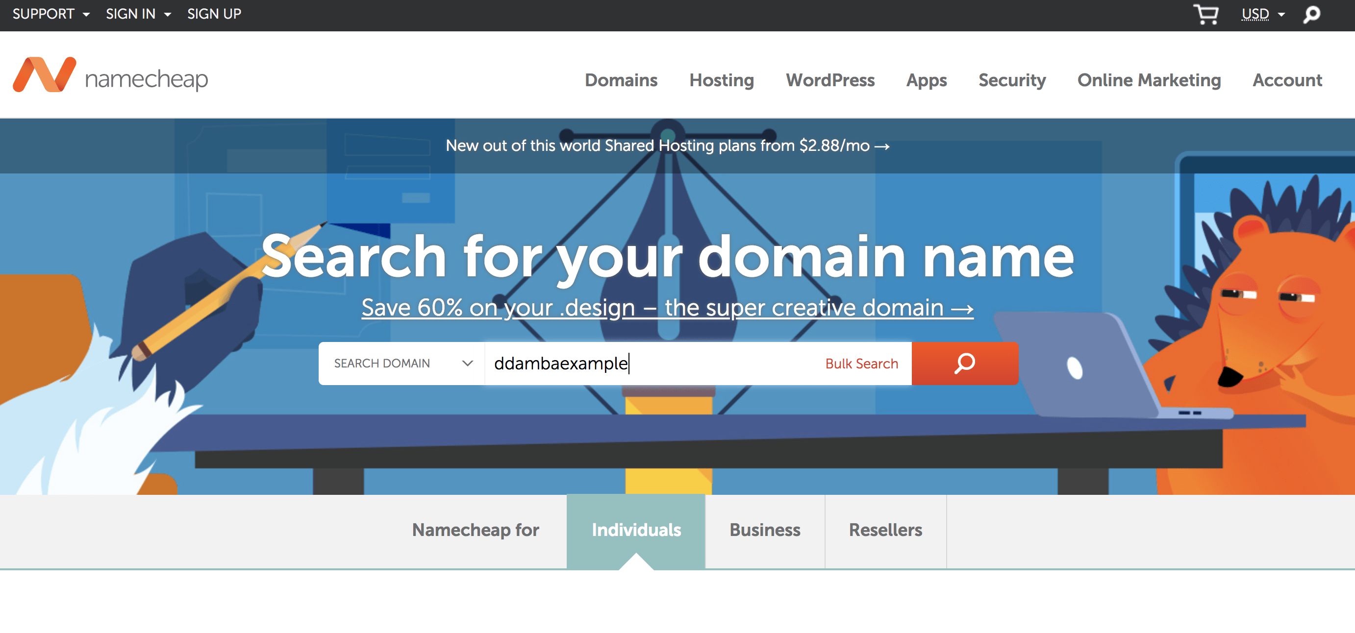 Registering a domain name for your blog