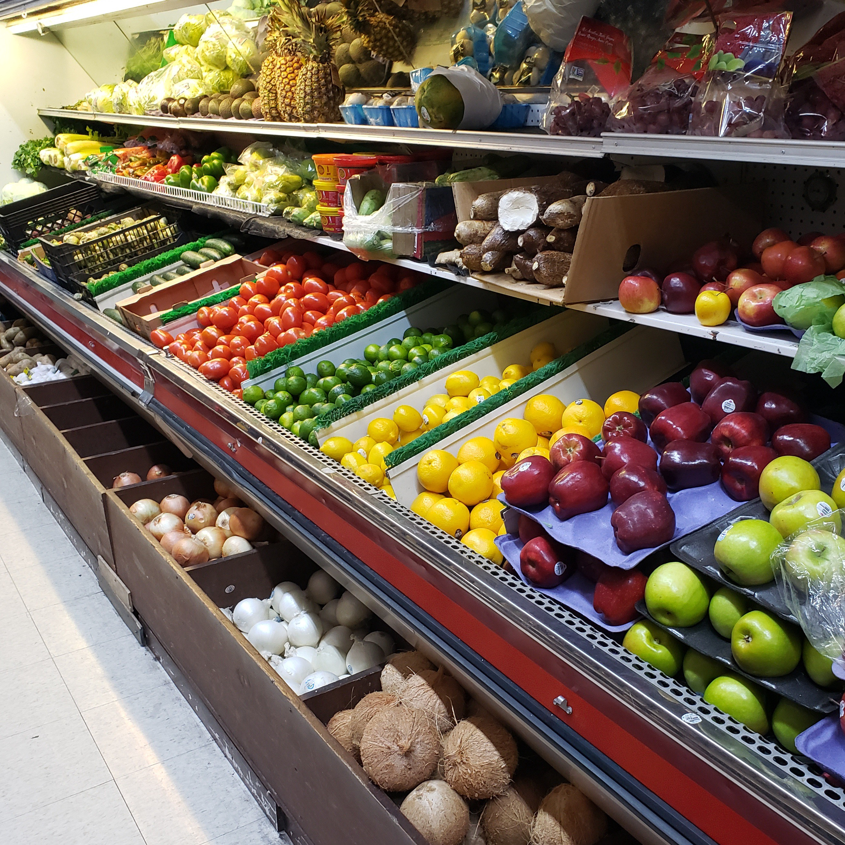 Fruits and vegetables at E. 14th Produce