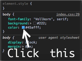 Console screenshot pointing where to click.