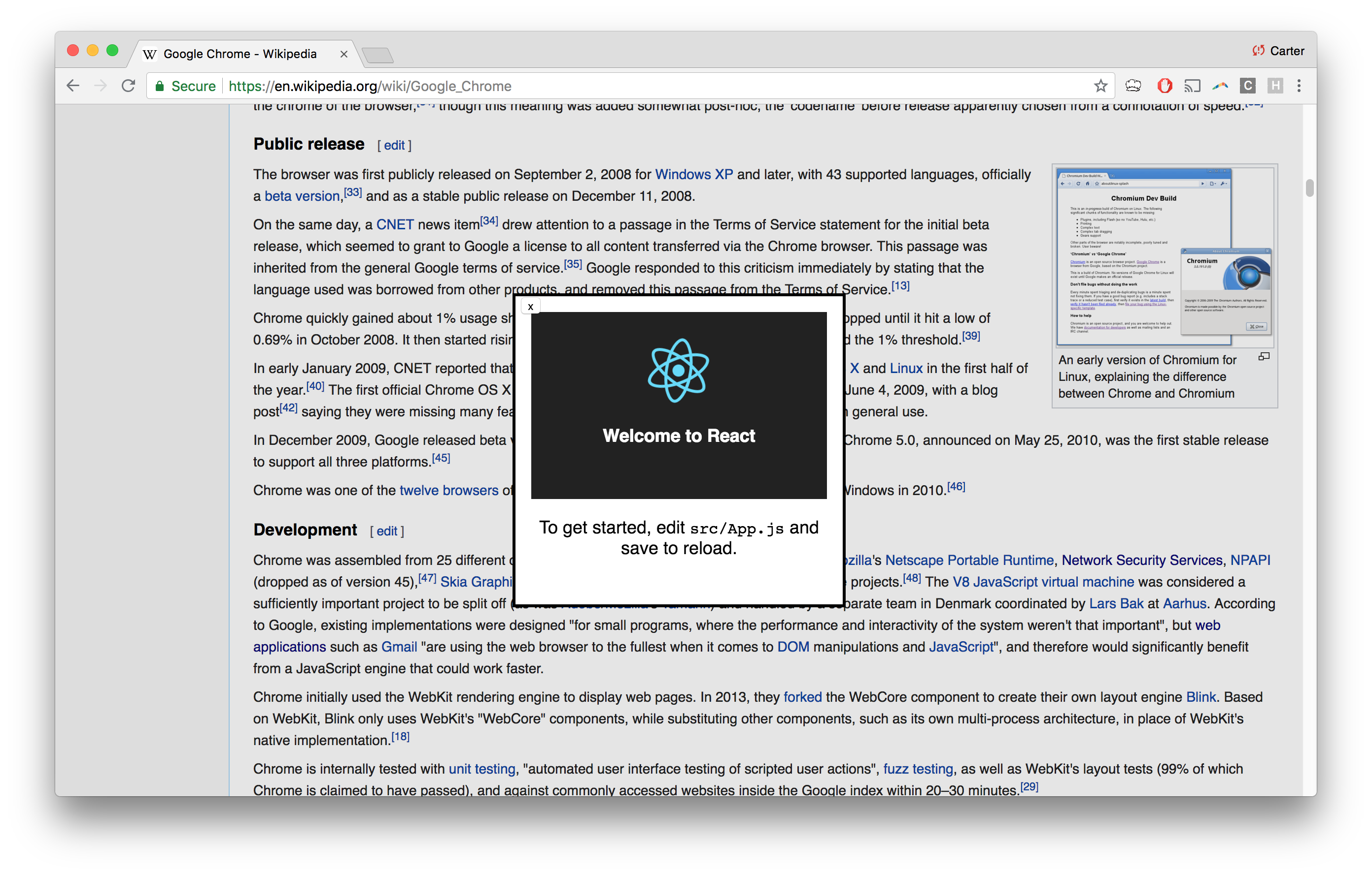 Making an Interactive Chrome Extension with React