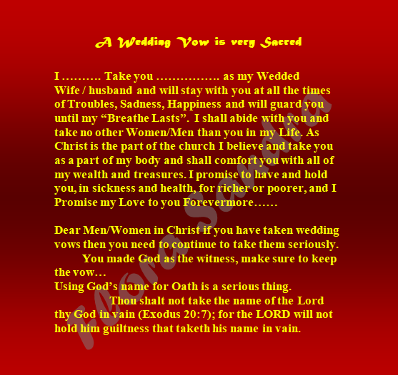 A Wedding Vow Is Very Sacred Sandra Flora Jayasheela Medium