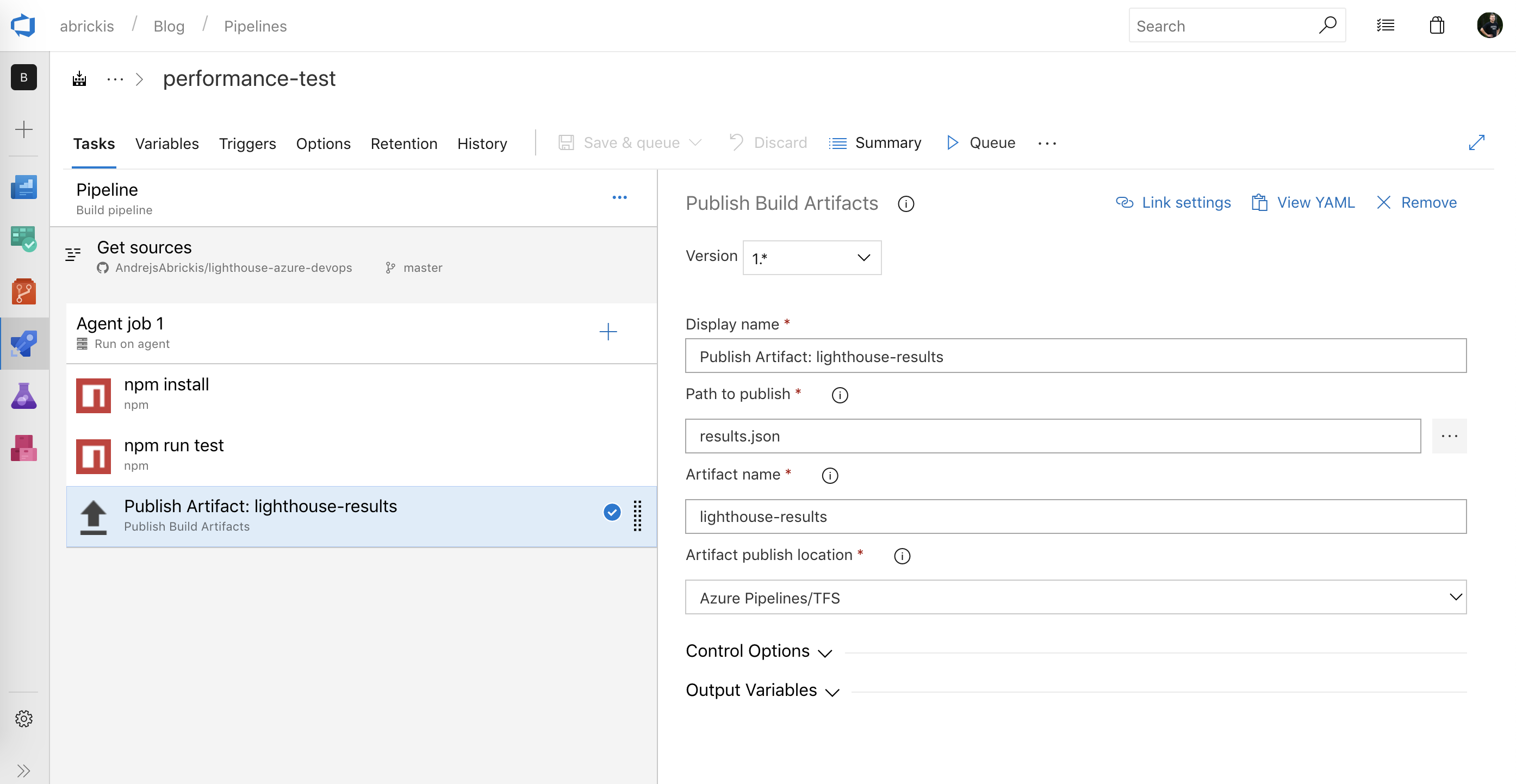 Continuously audit web app's performance using Google's