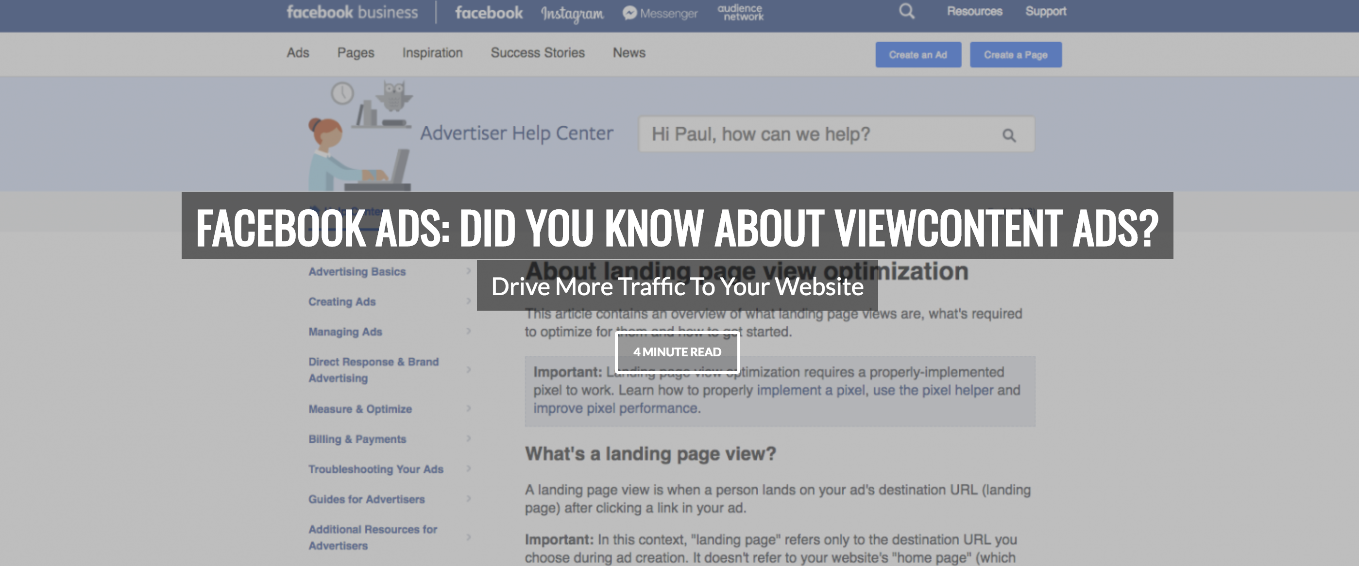 Drive More Traffic To Your Website Using Facebook Ads