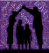 parents making arch with hands over children
