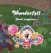 """A candy knight rejoices as confetti bursts from the text, """"Wonderful! Level completed!"""""""