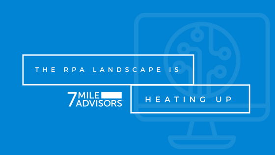 """The Robotic Process Automation (""""RPA"""") Landscape is Heating Up"""