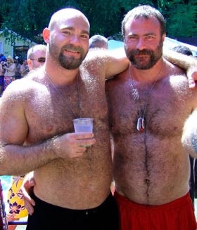 Hirsute gay men