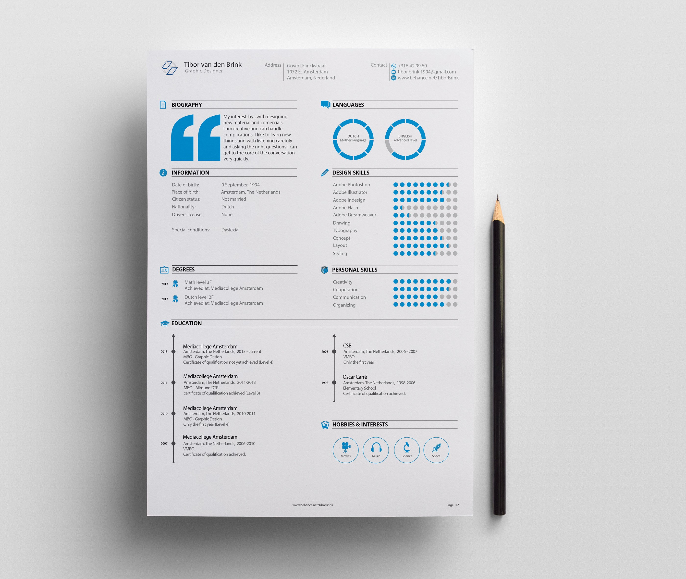 Designer Resume Inspirations Here Are Some Designer Resumes That
