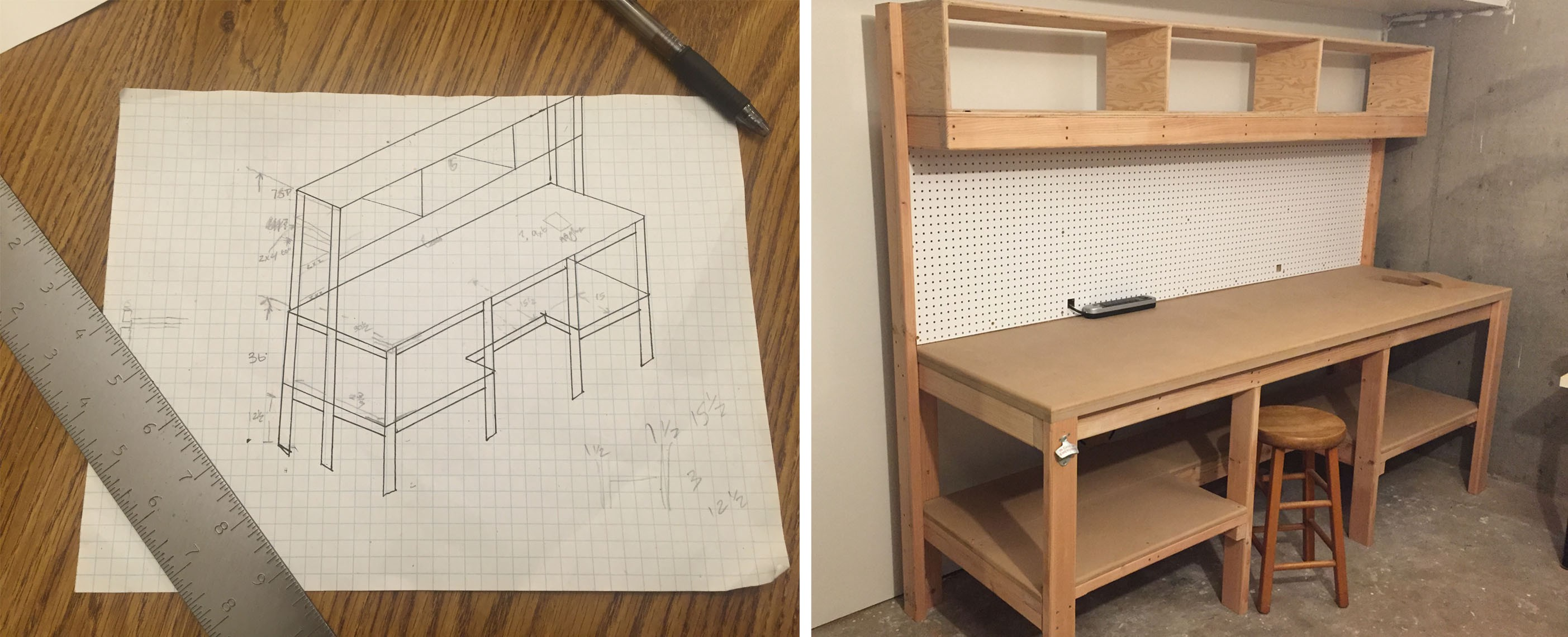 Astonishing My First Side Project Of 2016 Building A Workbench Pdpeps Interior Chair Design Pdpepsorg