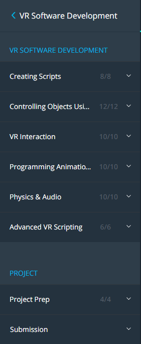 Some courses from Udacity VR Nanodegree are free (for those who