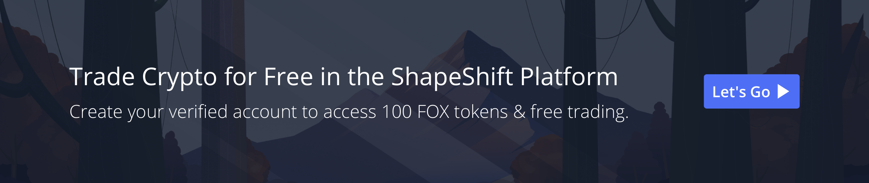 Receive 100 FOX tokens when you create a ShapeShift account. Trade crypto for free in the ShapeShift Platform. ShapeShift.com