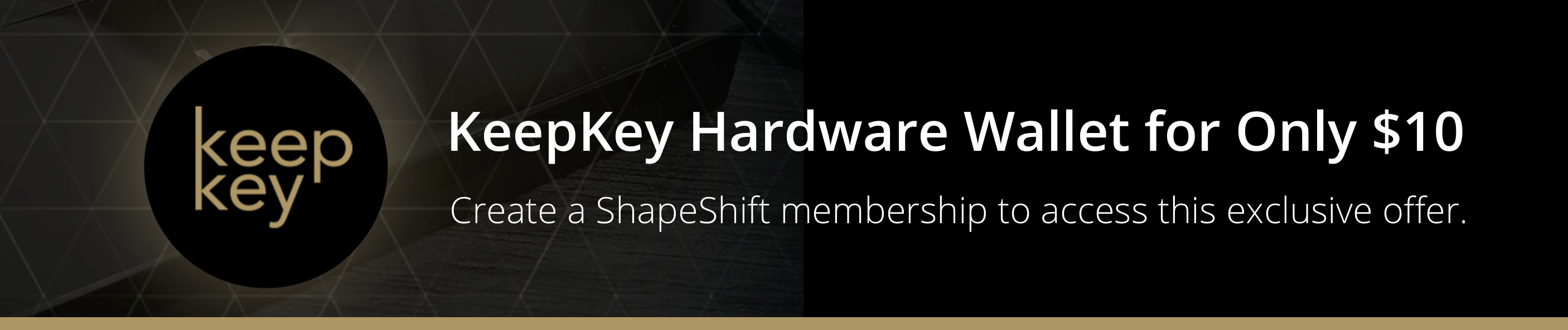 KeepKey Hardware Wallet for only $10 when you join ShapeShift.