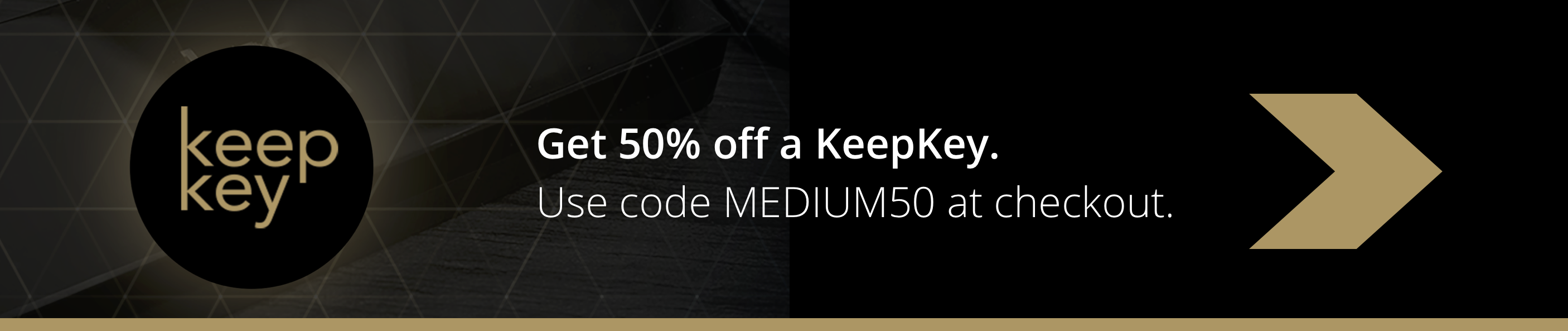 Get 50% off a KeepKey crypto hardware wallet.