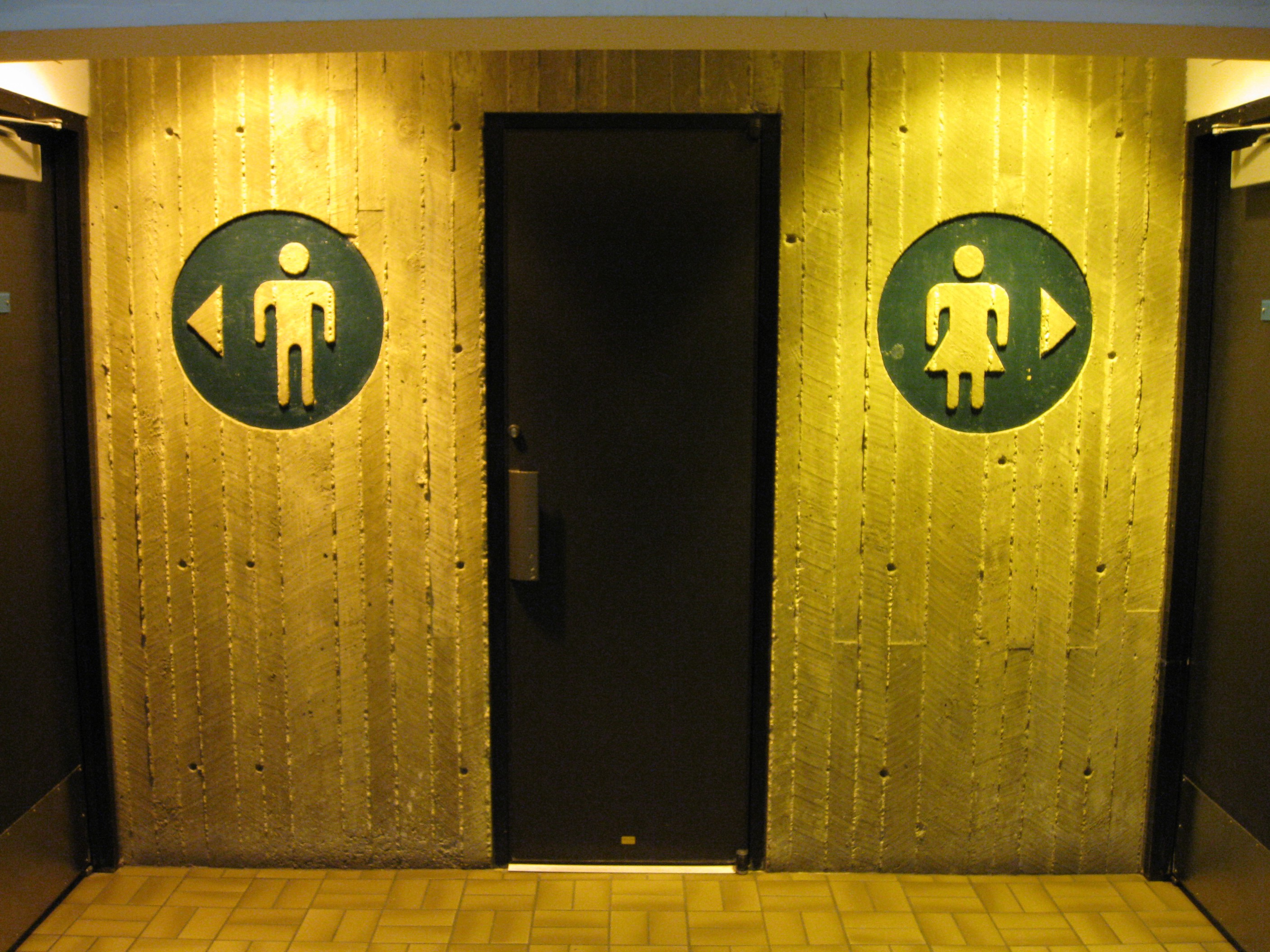 Source: https://commons.wikimedia.org/wiki/File:Restroom_signs.jpg