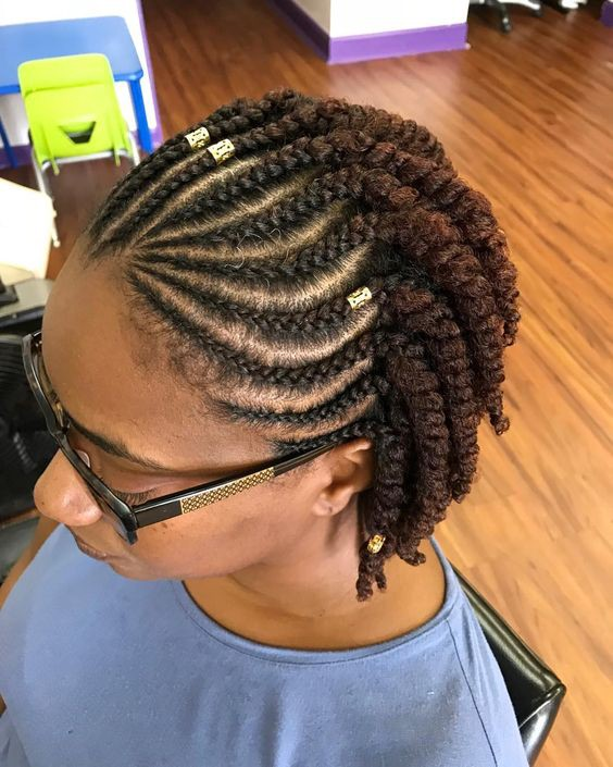 Cute Simple Black Hairstyles For Short Hair With Braids By Black Kitty Family Medium