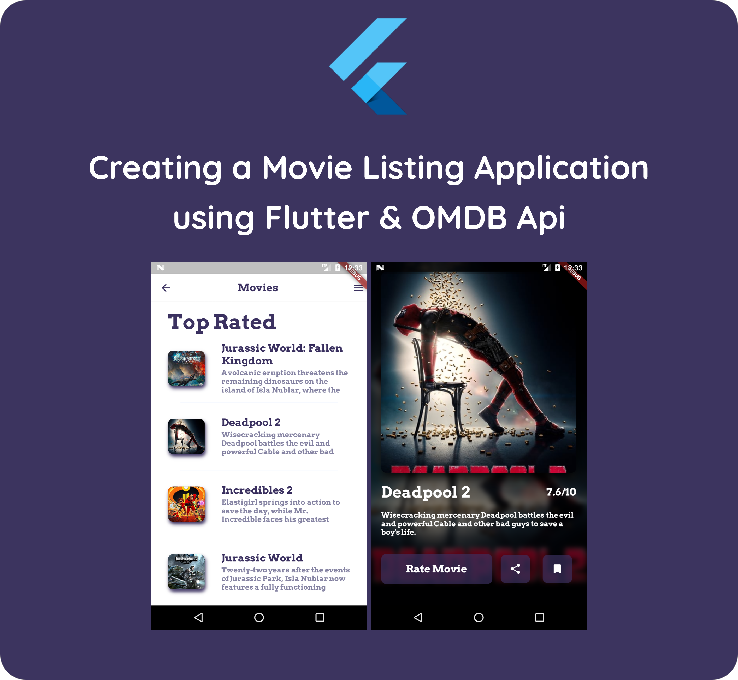 Flutter hands on : Building a movie listing app using