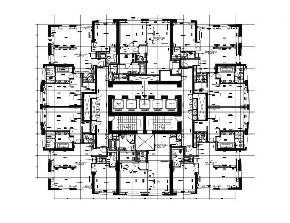 Layout plan of a residential apartment in dwg file - Cadbull
