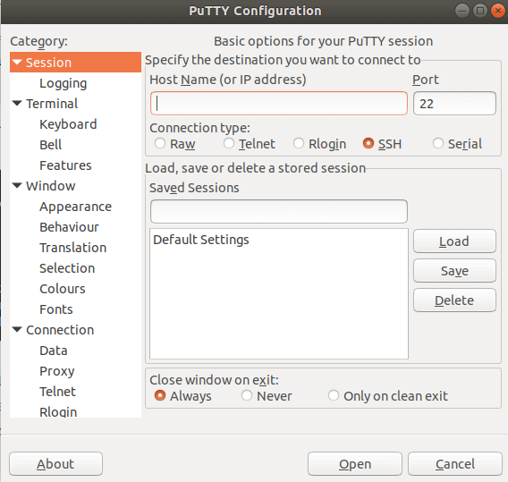 How to install PuTTY SSH and Telnet Client in Ubuntu 18 04