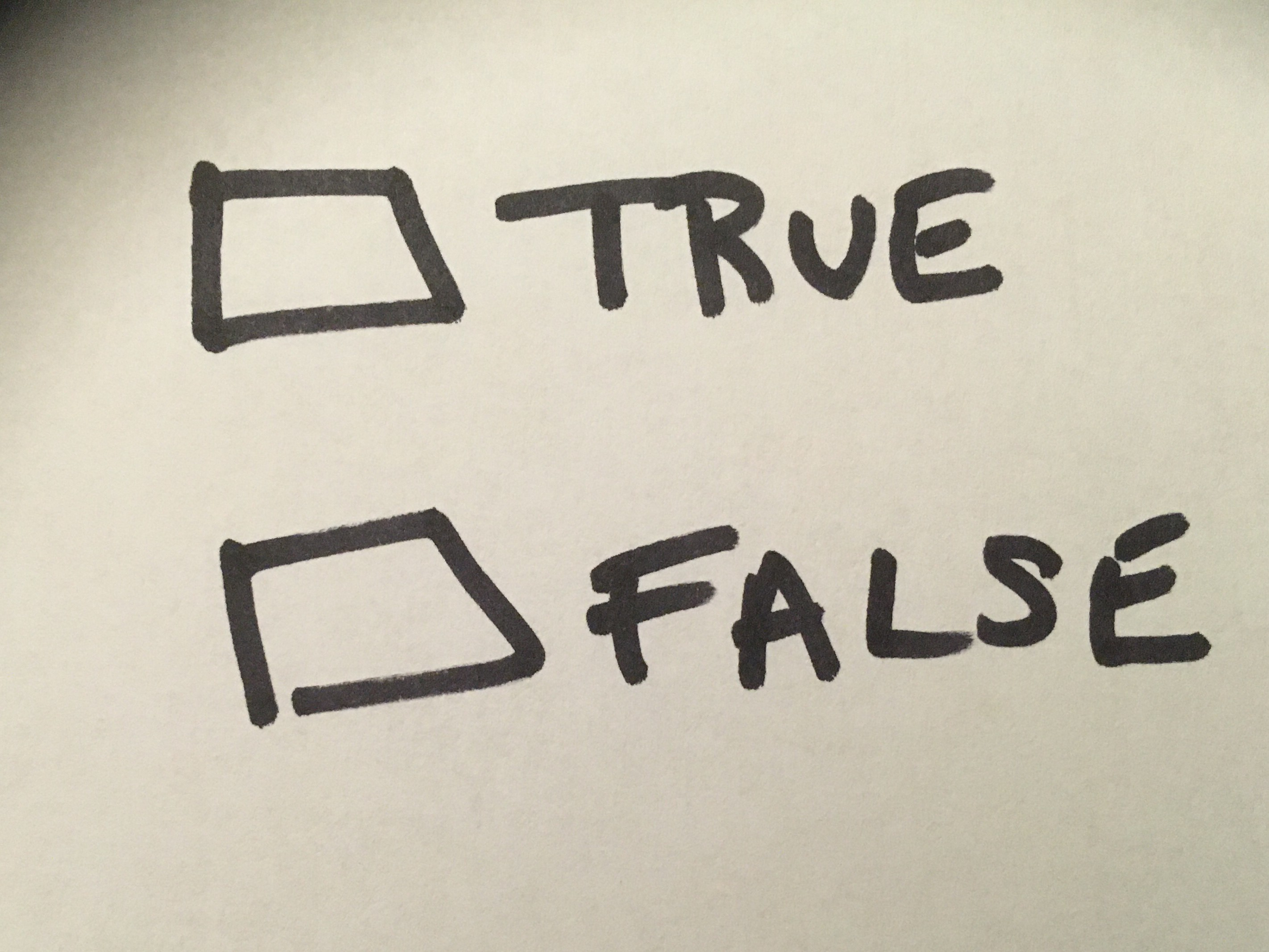True False Check Boxes